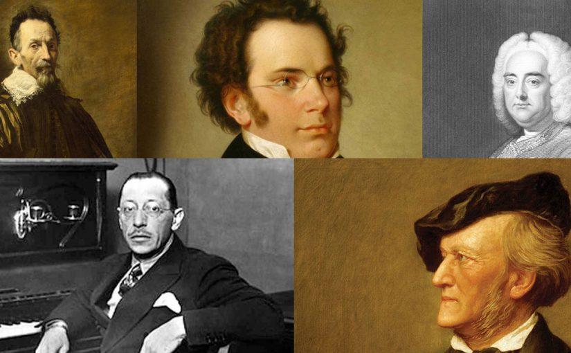 5 grandes compositores en la historia de la música
